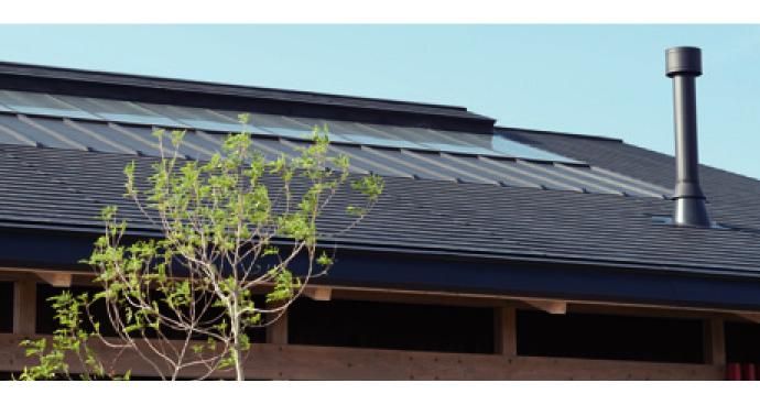 《そよ風》は、永久的に降り注ぐ太陽エネルギーを暖房に利用したり、お湯をつくったり。