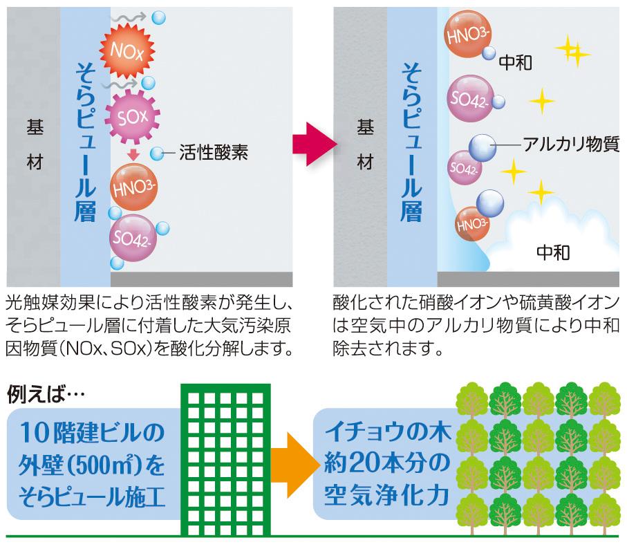 大気浄化機能のイメージ図